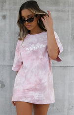 High Demand Tee Pink Tie Dye
