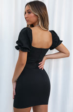 Fashionably Late Mini Dress Black