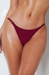 Palermo Bikini Bottoms Boysenberry Rib