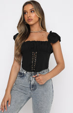 London Love Crop Black