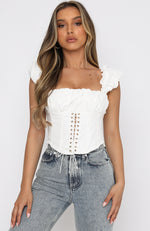 London Love Crop White