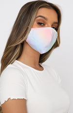 Face Mask Rainbow Tie Dye