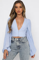 Free Spirit Crop Blue