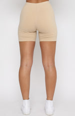 Essentials Club Bike Shorts Sand