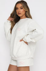 Essentials Club Oversized Sweater Grey Marle