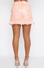 Someday Soon Mini Skirt Citrus Bloom