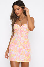 Fool For You Mini Dress Citrus Bloom
