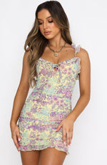 Vacay Nights Mini Dress Wild Lavender