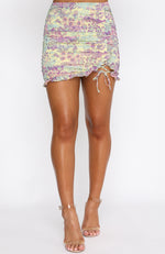 Chase The Sun Mini Skirt Wild Lavender