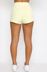 Lost Days Sweat Shorts Lemon