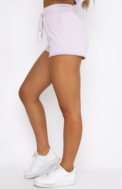 Lost Days Sweat Shorts Lilac