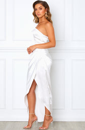 Willow Wrap Dress White