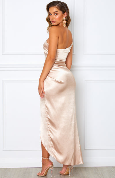 Willow Wrap Dress Champagne