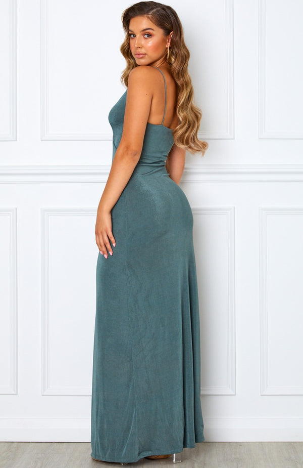 The Ritz Maxi Dress Steel