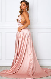 Made To Last Maxi Dress Rose Gold