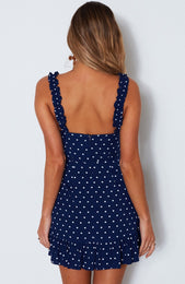 Feelin' Fine Dress Spot On Navy