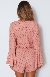 Dream Of Me Playsuit Spot On Peach
