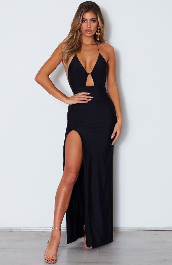 Take Me Back Maxi Dress Black