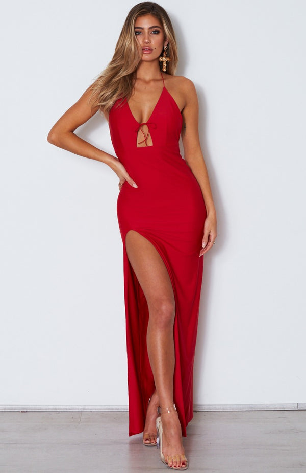 Take Me Back Maxi Dress Red