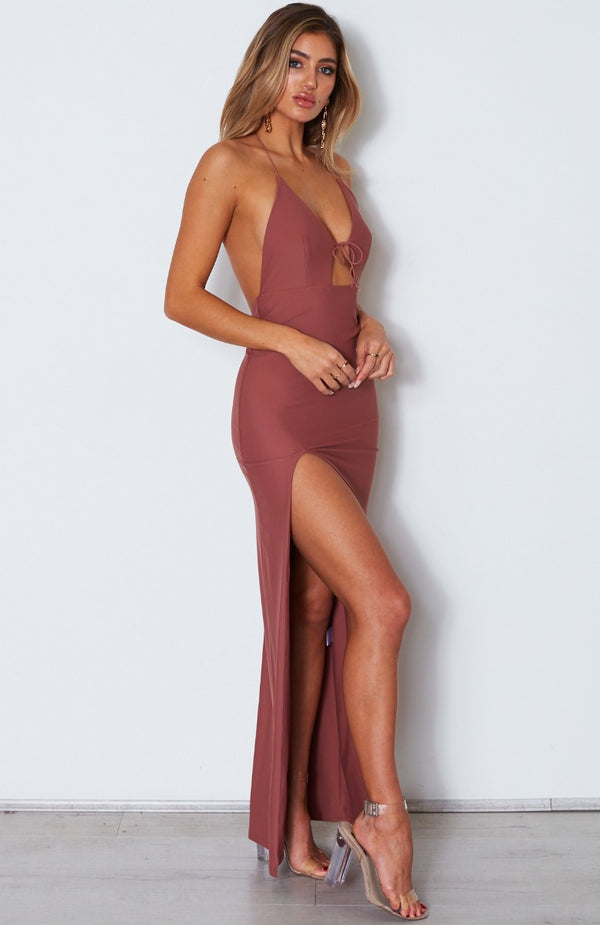 Take Me Back Maxi Dress Dusty Rose