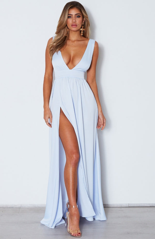 Time Is Up Maxi Dress Baby Blue