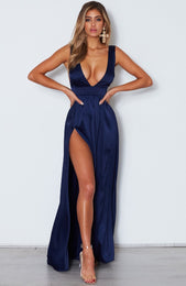 Time Is Up Maxi Dress Navy
