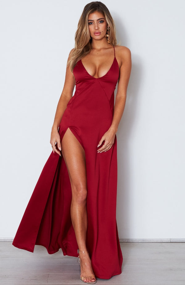 Run Free Maxi Dress Wine