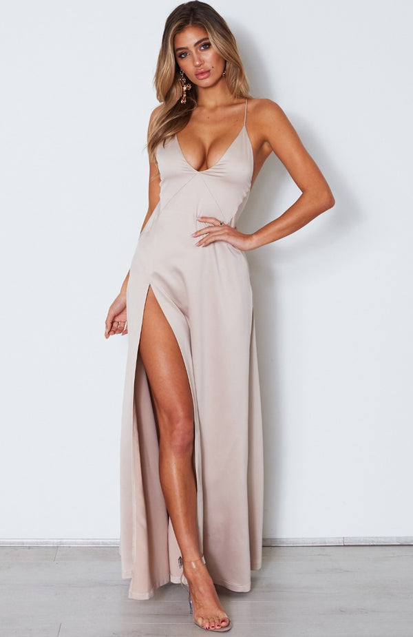 Run Free Maxi Dress Champagne