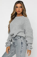 Crash Into You Knit Grey