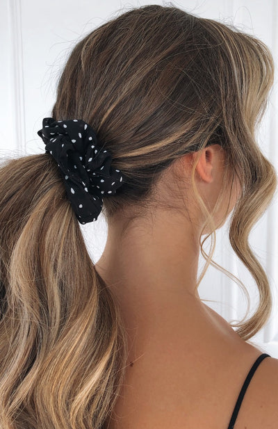 Sierra Scrunchie Black Polka Dot