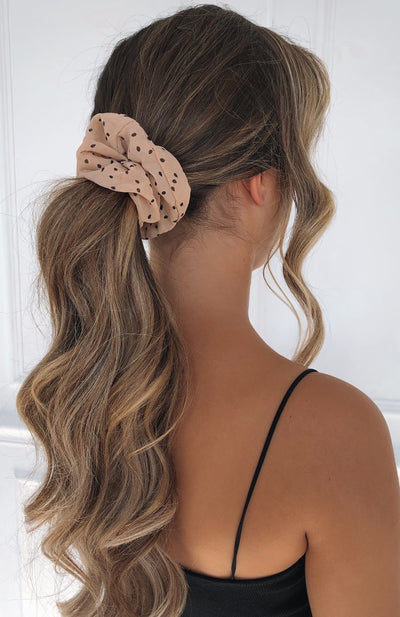 Sierra Scrunchie Blush Polka Dot