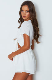 Instant Crush Playsuit White