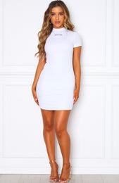 Heart Racing Mini Dress White