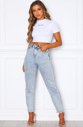 Down To Basics Crop White