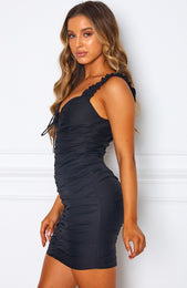 Bring The Drama Mini Dress Black