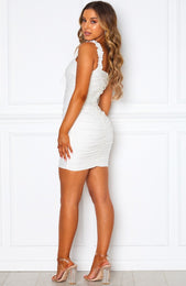 Bring The Drama Mini Dress White