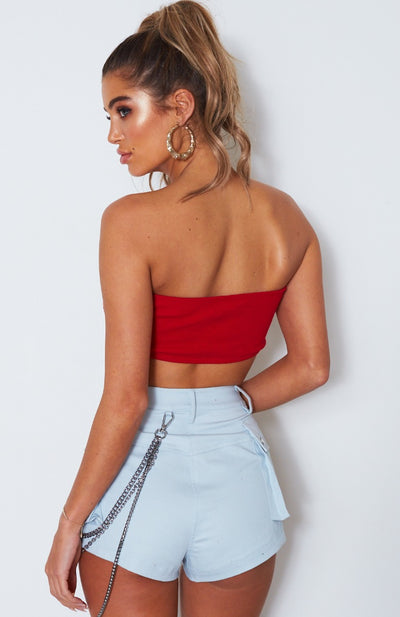 Blazed Tube Top Red