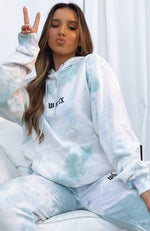 Above The Clouds Hoodie Stormy Tie Dye