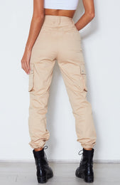 Rollin With My Homies Cargo Pants Beige