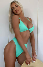 Sea Spray Bikini Top Mint Rib