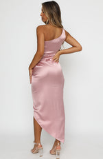 Night To Remember Midi Dress Rose