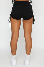 Running Wild Booty Shorts Black