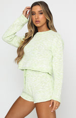 Fixed On You Knit Top Mint Marle