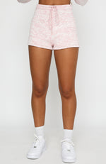 Role The Credits Knit Shorts Pink Marle