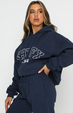 Play The Game Oversized Hoodie Navy