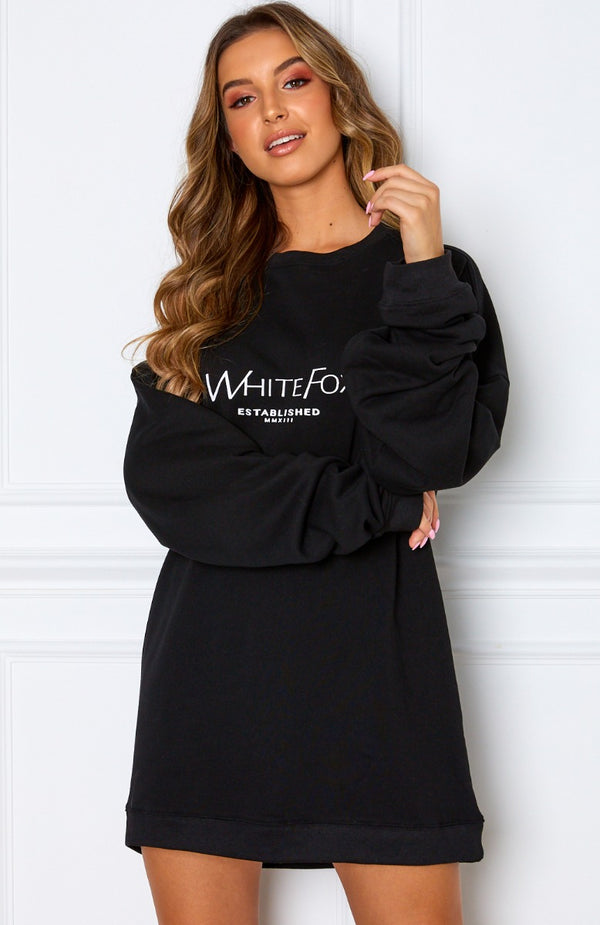 Going Rogue Sweater Dress Black