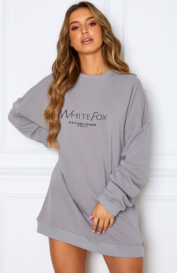 Going Rogue Sweater Dress Grey