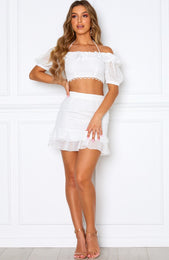First Sight Mini Skirt White