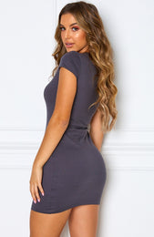 Bossy Mini Dress Charcoal