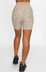 Speckle Bike Shorts Sand